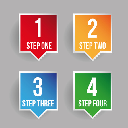 bar one: One two three four progress bar stickers