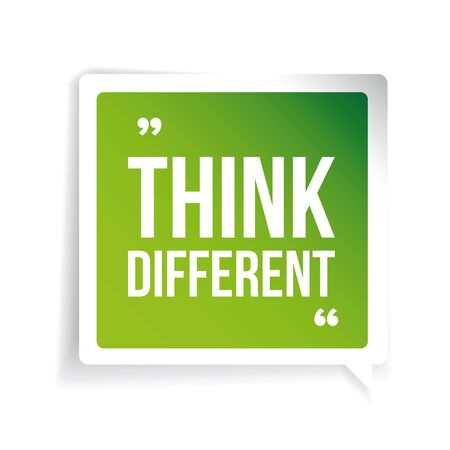 think different: Think Different. Inspirational motivational quote
