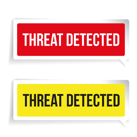 detected: Warning Threat Detected. Security concept sign