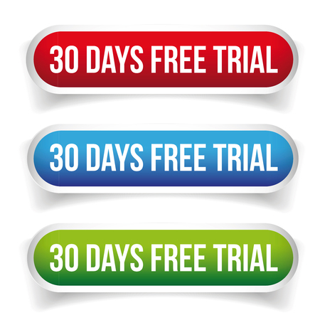 30 days free trial vector