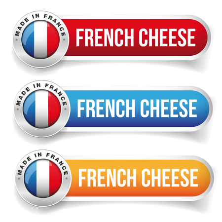 french label: French Cheese label button Illustration