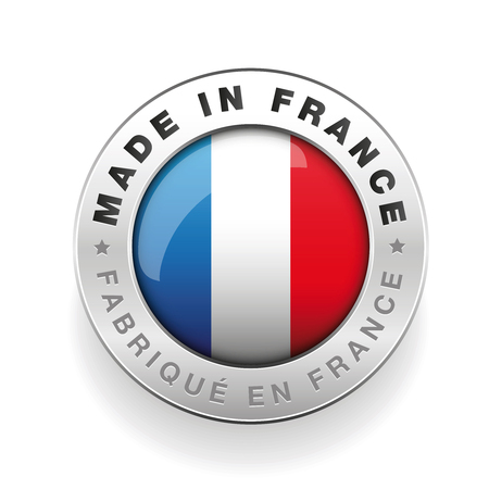 Made in France vector button