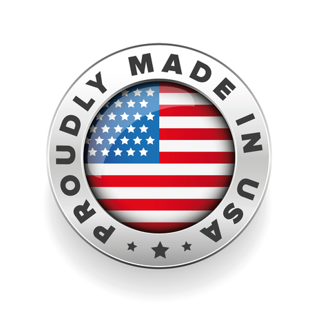 Proudly Made in USA vector button