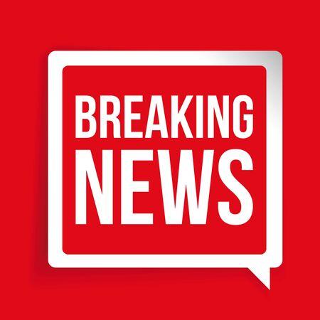 breaking: Breaking news label or button