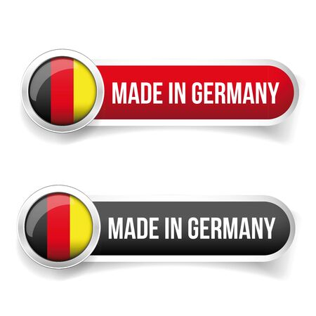 made in germany: Made in Germany button vector