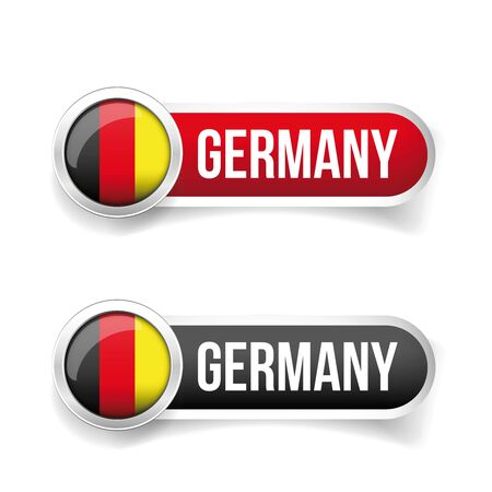 germany flag: Germany flag button vector