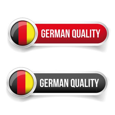 sticker design: German Quality button vector