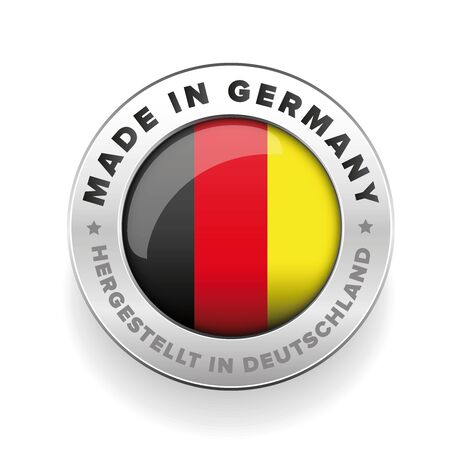 Made in Germany button vector