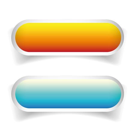 cerulean: Orange and blue empty button