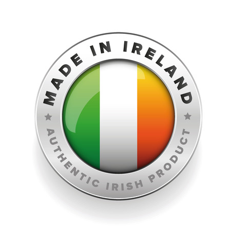 authentic: Made in Ireland button - Authentic irish product
