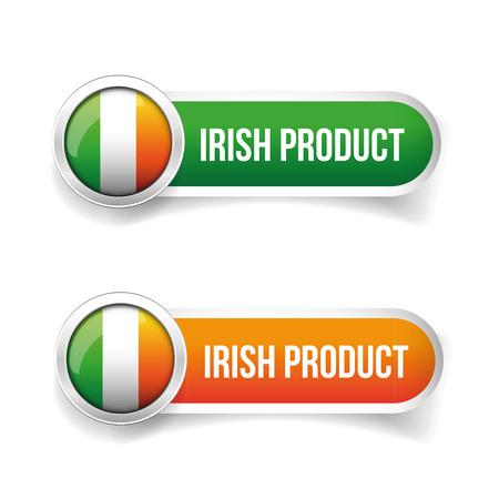 bandera irlanda: La bandera de Irlanda - Bot�n irland�s producto Vectores