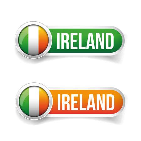 ireland flag: Ireland flag button vector Illustration