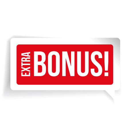 Extra Bonus sticker red speech bubble