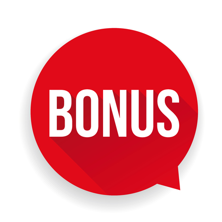 bonus: Bonus sticker red speech bubble