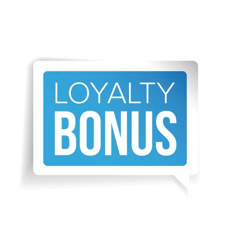 extra money: Loyalty bonus sticker blue speech bubble