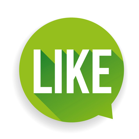 tweeter: Green Button Like Vector
