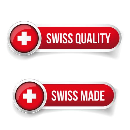 スイス製。スイス製  イラスト・ベクター素材