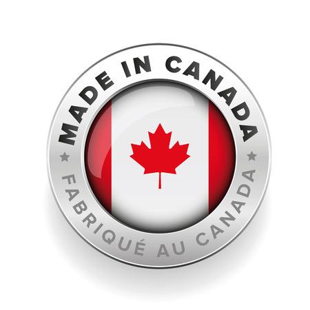 Made in Canada button Banco de Imagens - 59991846