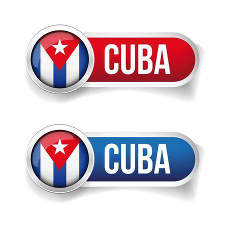 bandera cuba: Bot�n del indicador de Cuba