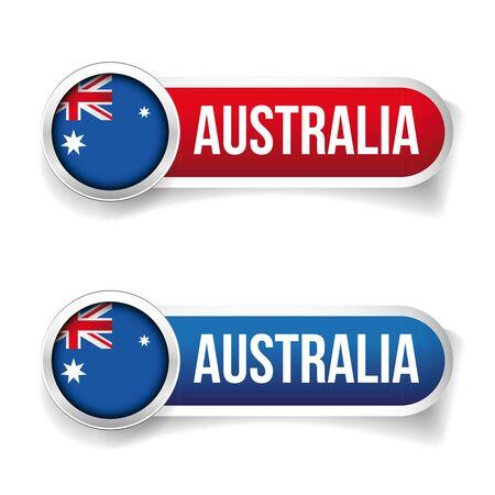 flag button: Australia flag button