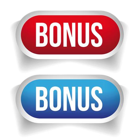 bonus: Bonus button set vector Illustration