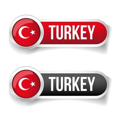 flag button: Turkey Flag button set