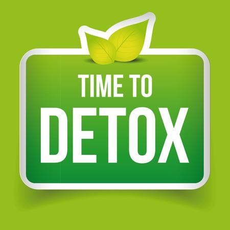 Tiempo de desintoxicación vector botón verde