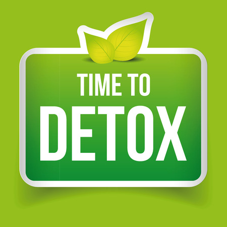 Time to Detox button green vector