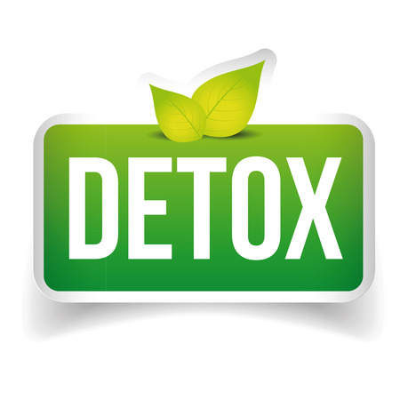 detox: Detox button green vector