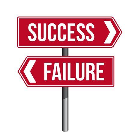 failure: Success Failure Sign vector Illustration