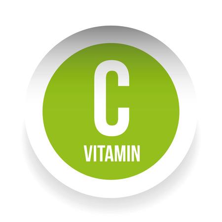magnesium: Vitamin C label sticker