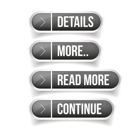Call to action button set - Details, More, Read more, Continue