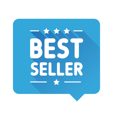 seller: Best Seller label speech bubble Illustration