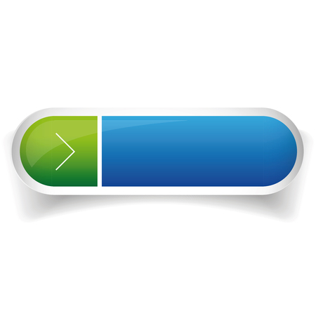 cerulean: Blue and green glossy web bar button vector