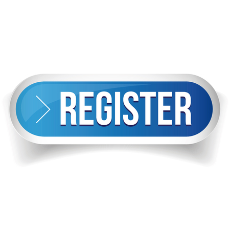 blue button: Register blue button vector