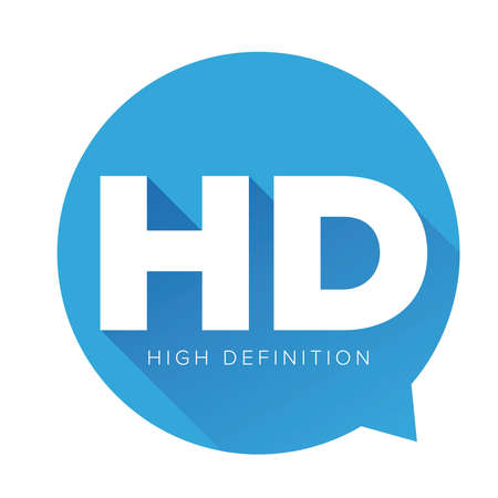 high definition: HD button - High Definition vector