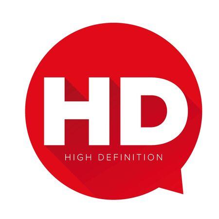 definicion: bot�n HD - High Definition vectorial