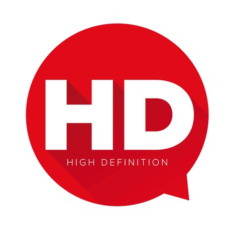 definition: HD button - High Definition vector