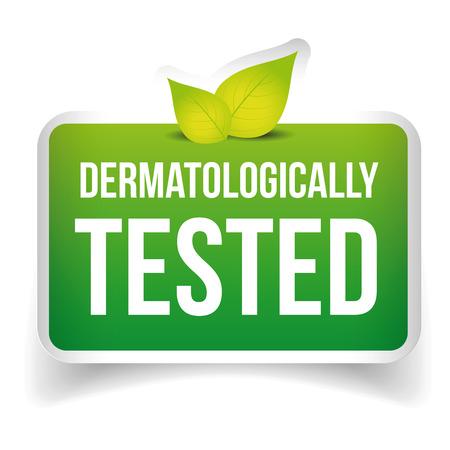 Dermatologisch getest Icon label vector Stockfoto - 60299264