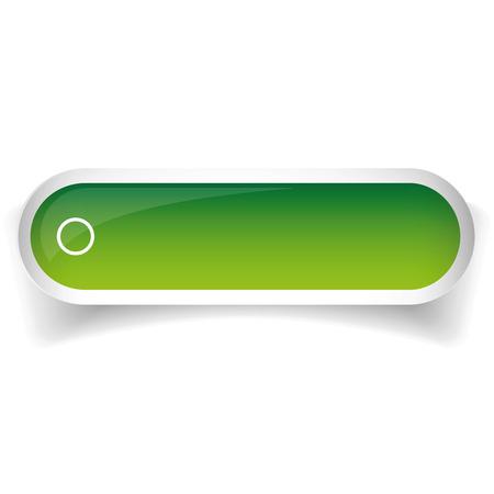 cerulean: Green glossy web bar button vector Illustration