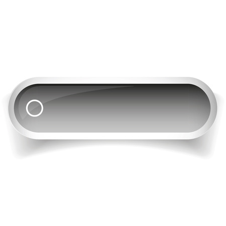 glossy button: Grey glossy web bar button vector Illustration