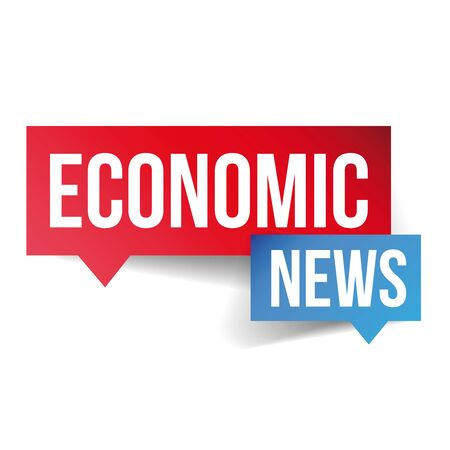 current events: Economic News icon vector