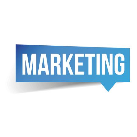 adwords: Marketing label speech bubble Illustration