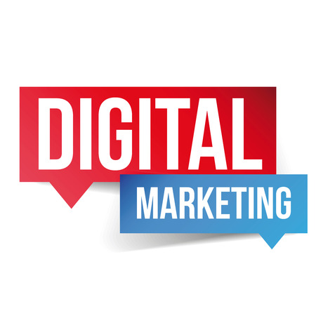 adwords: Digital Marketing speech bubble label