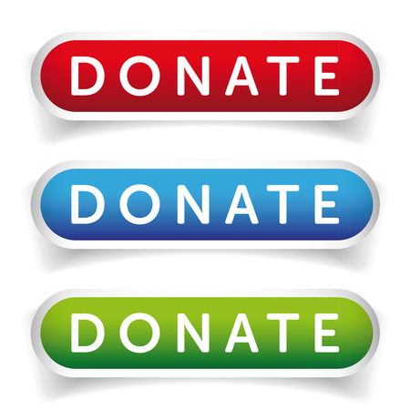 Donate button set Banco de Imagens - 60473419