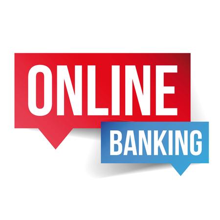online banking: Online Banking speech bubble Illustration