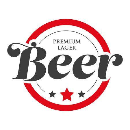 Vintage Beer logo stamp
