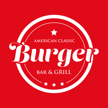 Burger Bar and Grill - American Classic stamp