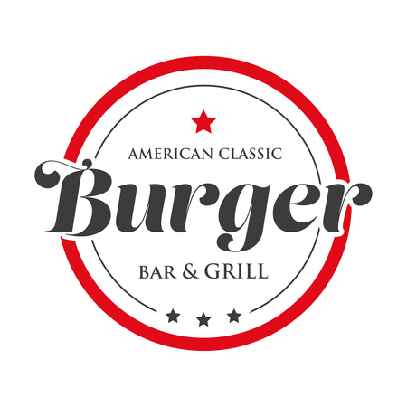 Burger Bar and Grill vintage stamp logo