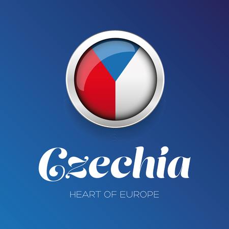 cr: Czech Republic - Czechia flag button